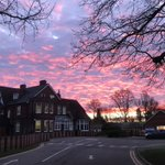 Beautiful sky at early drop off this morning ….. thanks to Mr Still for the capture.  #winterskies #LongacreLife #prepschoolguildford #prepschoolsurrey #surreyhills