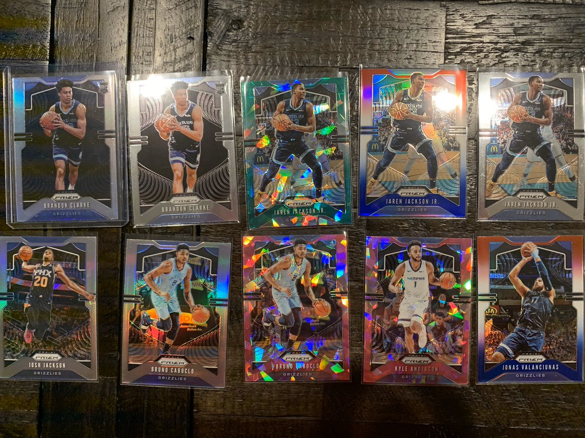 NBA Prizm For Sale! 10 Card Memphis Grizzlies Lot. Brandon Clarke Silver Jaren Jackson Green Ice!! $50 shipped!! pic.twitter.com/s0RGljyAko