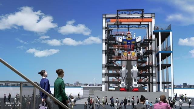 【みんなの夢】実物大の動くガンダム、10月から横浜の大地に 14年にスタートしたプロジェクト。可動フレーム(鋼鉄)と外装(カーボン樹脂)でできており、質量は約25トンとなっている。