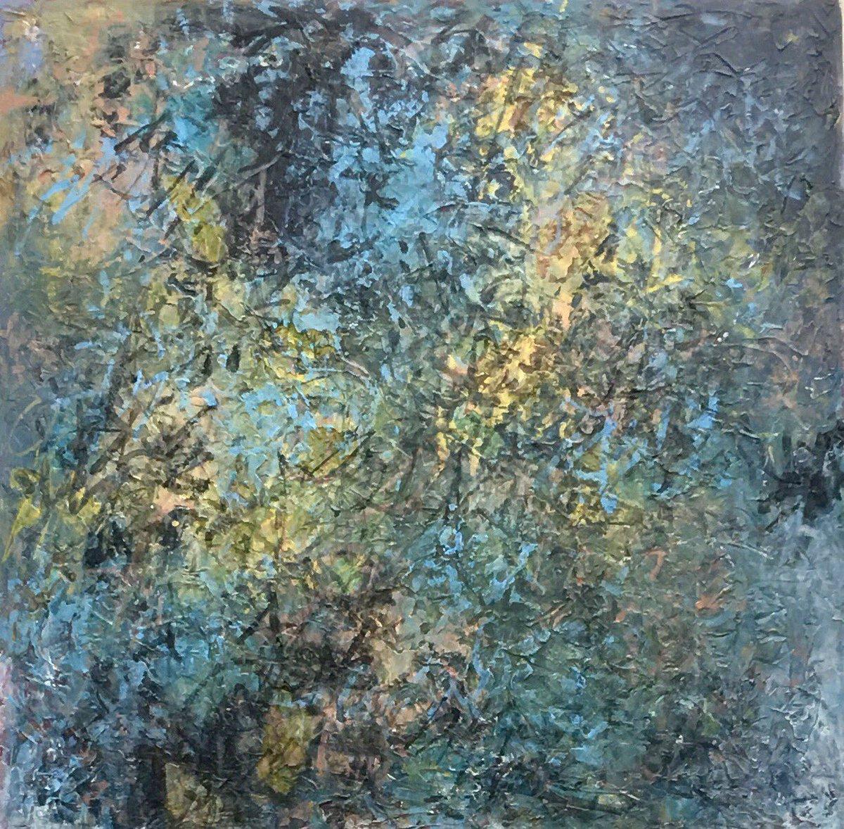 'Shrinkage and Relaxation of Consciousness', 70cm square acrylic on wood panel #art #artwork #painting #abstractart #contemporaryart #modernart #originalart #artist #painter #fineart #interiordesign #interiordecor #artcollector #myart #artoftheday #artistsontwitter