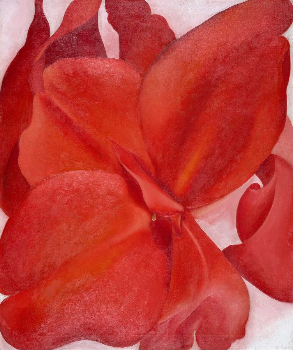 """#ArtoftheDay: """"Red Cannas"""" by Georgia O'Keeffe, 1927, Amon Carter Museum of American Art, Fort Worth, Texas."""