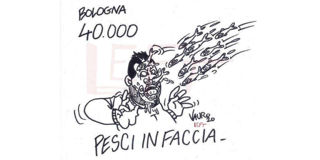 #ultimora @VauroSenesi per Left  #Sardine  #Bologna  #Bolognanonsilega  #20gennaio<br>http://pic.twitter.com/SfI2v9sUSX