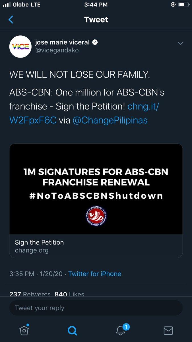 Sign & Share #NoToABSCBNShutdown