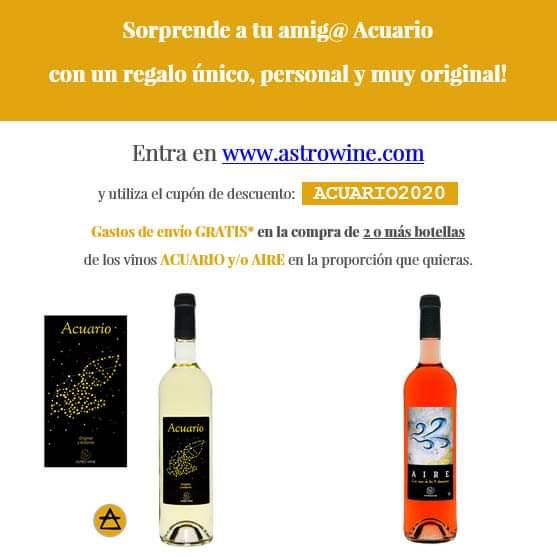 ¡El regalo más original para sorprender a tu amig@ Acuario!  *Gastos de envío gratis válido para la compra de 2 o más botellas para España peninsular. Consultar otros destinos https://astrowine.com #cumpleaños #birthday #regalo #acuario #regalo #fiesta #vinopic.twitter.com/wCY7p9r6Ag