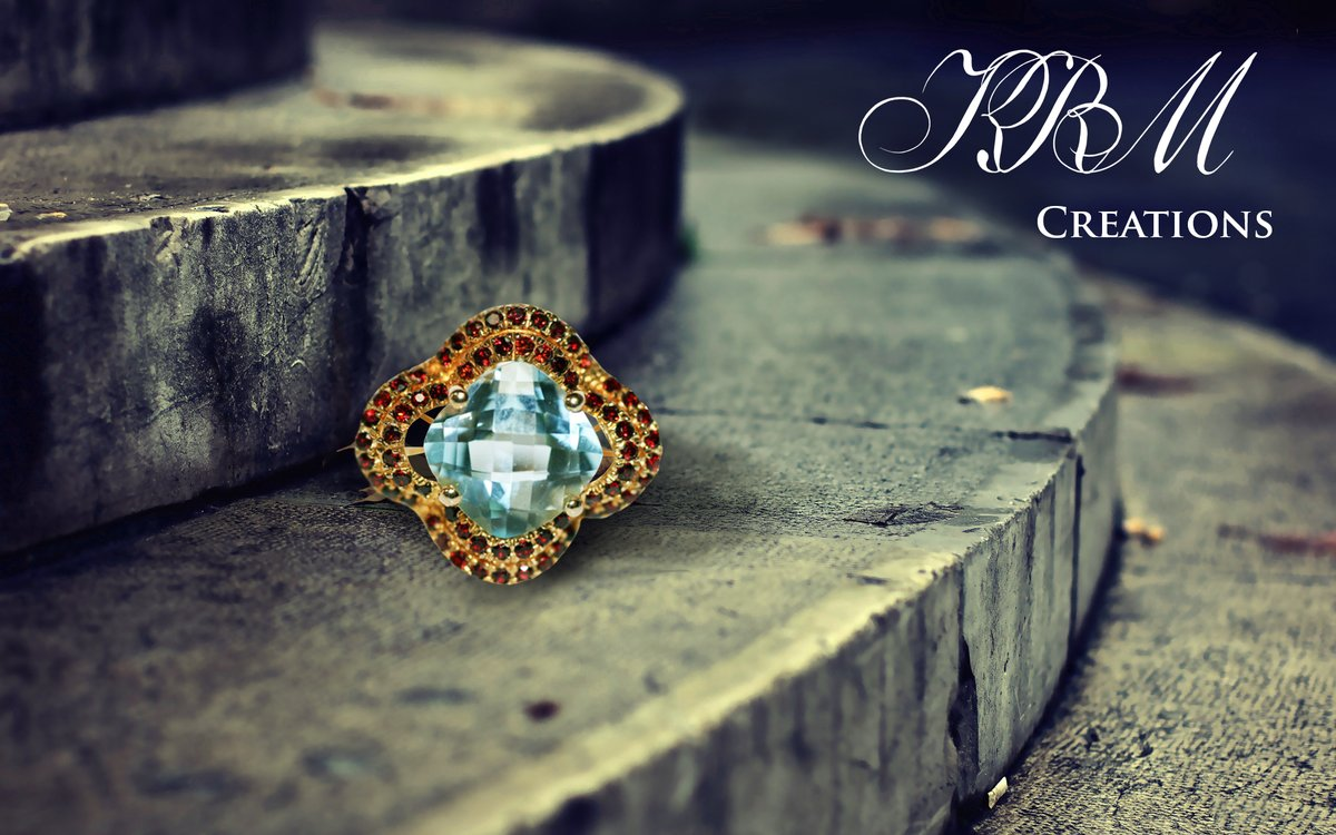 #blue #topaz #garnet #ring #red #blue #finejewelry