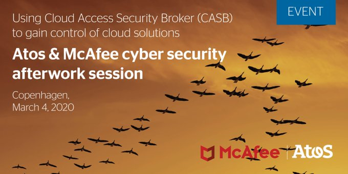 [#EVENT] Want to learn from #Atos & @McAfee the best #cybersecurity practices? Register...
