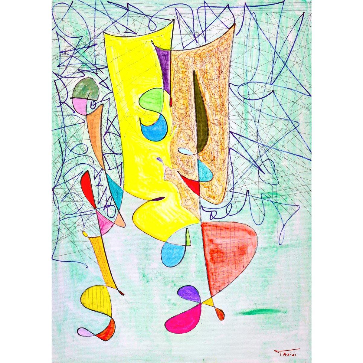 #eljantanini🏃#privatecollection 50x70 🎨☀🐦 #swallows and theatre #Tirana #emergingartist #tanini 2019 #art #acrylicpainting  #GeometricAbstraction #FineArt #pitturacontemporanea #contemporaryart #contemporarypainting #abstractart #modernartist #dailyart #artist #artoftheday