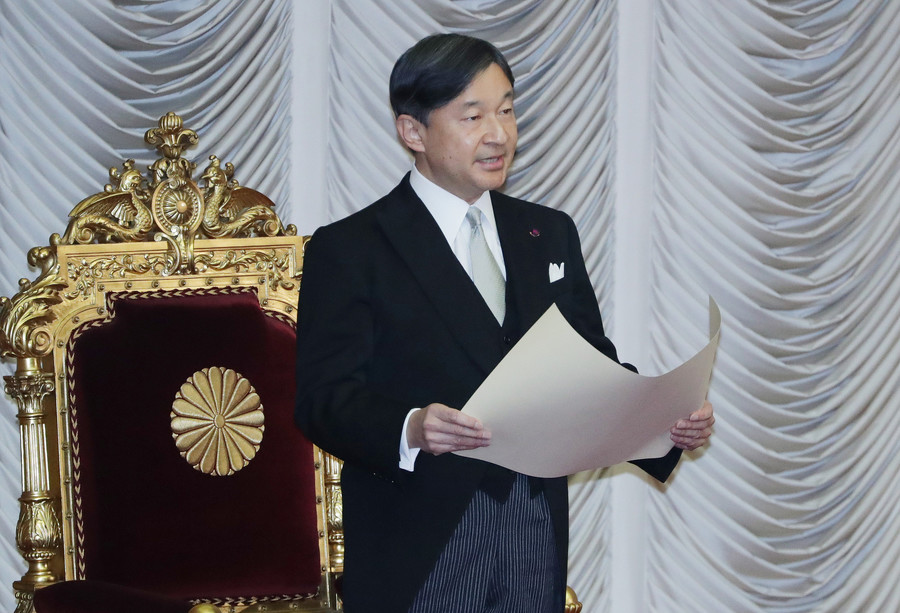 On January 20th, Emperor Naruhito opened the 201st ordinary Diet session at the upper house of parliament in Tokyo.   https:// news.yahoo.co.jp/search/;_ylt=A 2RivbjsXyVe9R8AujF4XvB7?p=%E5%A4%A9%E7%9A%87%E9%99%9B%E4%B8%8B+201&aq=-1&oq=&ei=UTF-8   …    https://www. yomiuri.co.jp/politics/20200 120-OYT1T50180/   …  <br>http://pic.twitter.com/QajLOJLdBU