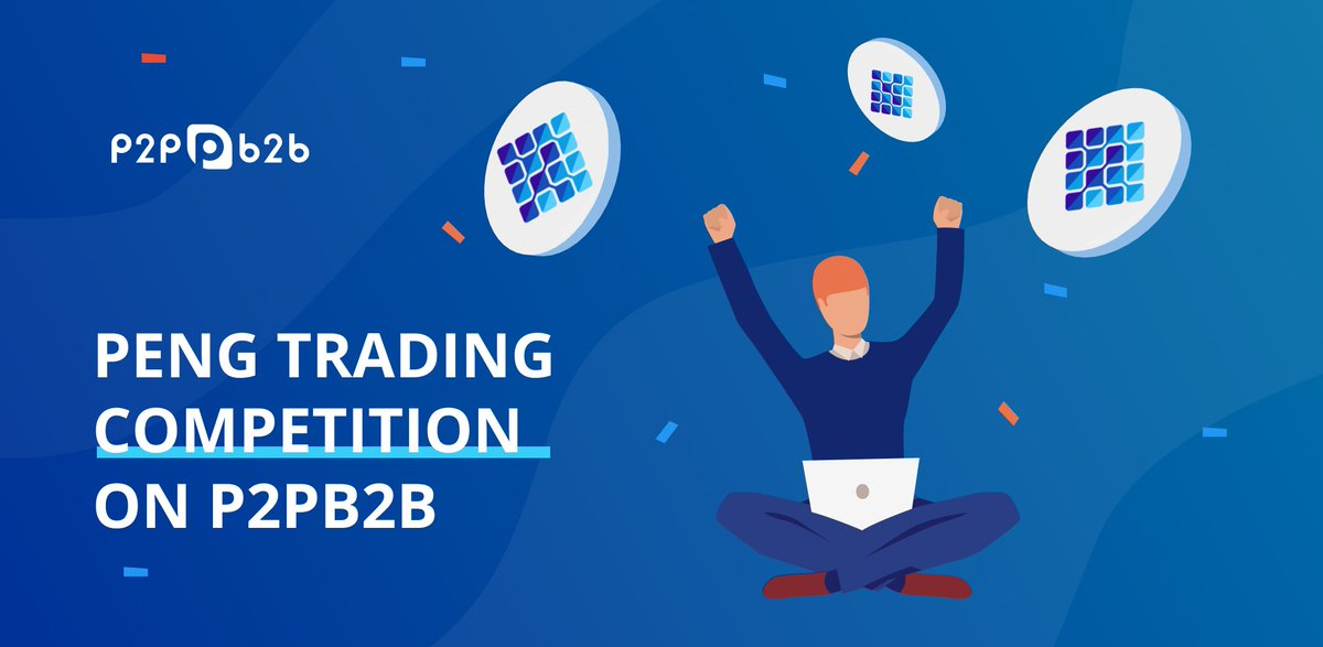 PENG Trading Competition on P2PB2B   The competition starts on January 20 at 00.00 UTC until February 3 at 23.59. To take a part in the competition, you should reach 1M PENG minimum volume to qualify (cumulative) during the course of the competition. PENG/BTC pair only. <br>http://pic.twitter.com/R45i66Lh1f