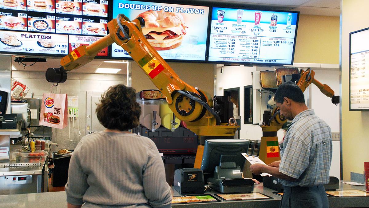 Burger King Preps 60,000 Mexican Replacement #Robots  #automation #burgerking #donaldtrump #singularity