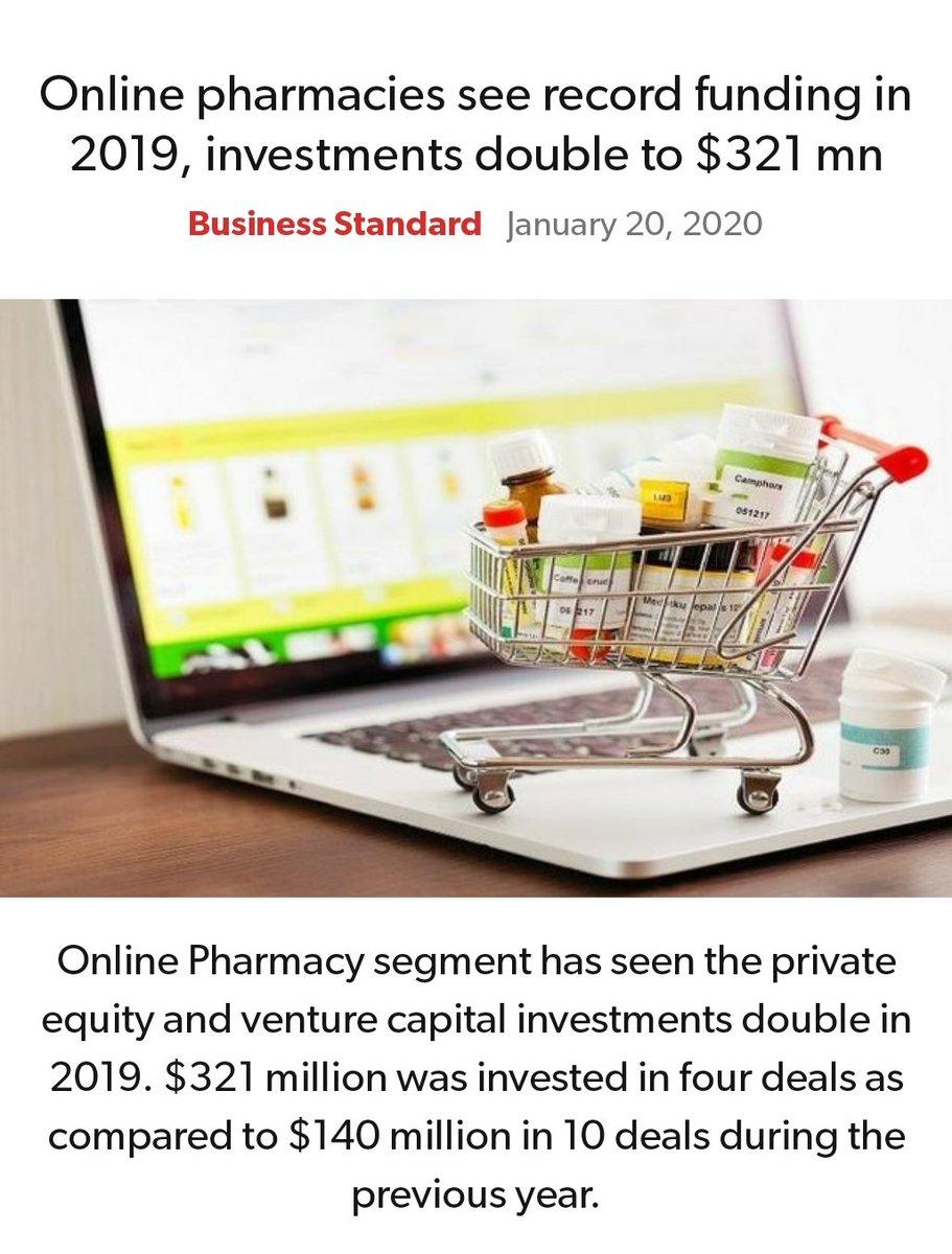 #MeraParivarBhajpaParivar #BarBarNamoNamoNamo #IndiaSupportsCAA_NRC_NPR Online pharmacies see record funding in 2019, investments double to $321 mn https://www.business-standard.com/article/companies/online-pharmacies-see-record-funding-in-2019-investments-double-to-321-mn-120011800340_1.html…  via NaMo Apppic.twitter.com/2sZxZp4X2p