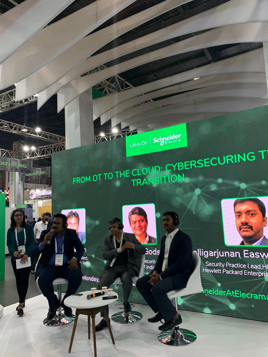 Join us as our Cybersecurity Specialist gets in conversation with 2 other industry specialists. From OT to the Cloud: Cybersecuring the transition, they talk about how #IoT will connect devices with its new connectivity model. #SchneiderAtElecrama #SchneiderElectric #Elecrama2020<br>http://pic.twitter.com/o08XPnscE4