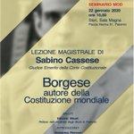 Image for the Tweet beginning: Sabino Cassese ad #UniPa con