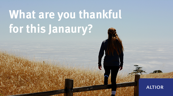 Today is #BlueMonday so we wanted to bring a little positivity to your feed. Can you tell us one thing you're thankful for this January? pic.twitter.com/EMFmyaj4TT
