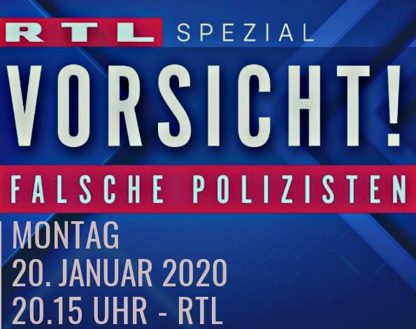 """Unser #Fernsehtipp für heute Abend:  RTL Spezial """"Vorsicht! - #falschePolizisten""""   #Gutzuwissen #nichtverpassen pic.twitter.com/kYVVwnDtP3"""