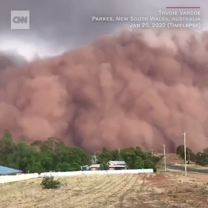 In Australia, people have been filming rolling clouds of dust sweeping across New South Wales. The massive dust storms blanketed entire towns and blacked out the sun over the weekend. https://cnn.it/36fQ0Jj