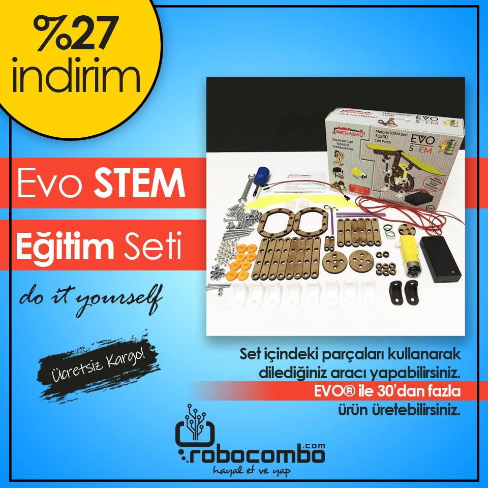 Sömestr Tatilinde Evde STEM Atölyesi!  Evo STEM Eğitim Seti http://Robocombo.com'da!  http://www.robocombo.com/evo-stem-egitim-seti…  #karnehediyesi #karnegünü #mekatronik #maker #mekatronikmuhendisligi #arduino #robocombocom #hayaletveyap #robocombo #stem #arduinoset #robot #robotics #robotikpic.twitter.com/xqPV7VoOOX
