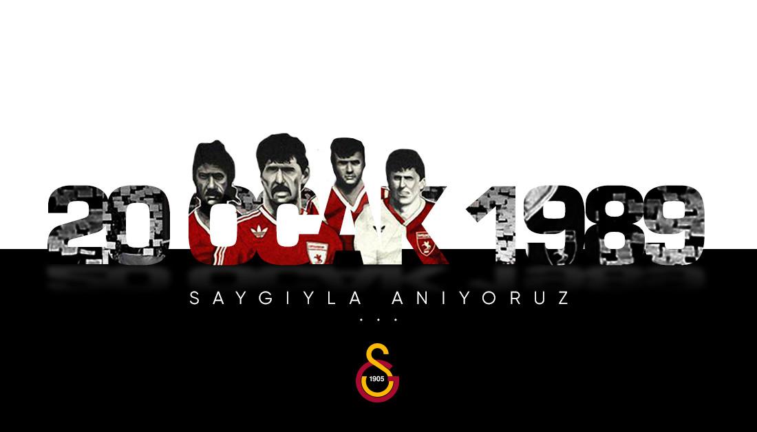 #20Ocak1989'da Malatyaspor deplasmanına gitmek için yola çıkan Samsunspor kafilesinin yaptığı trafik kazasında yaşamını yitiren futbolcular ve teknik heyet personelini rahmetle anıyoruz.