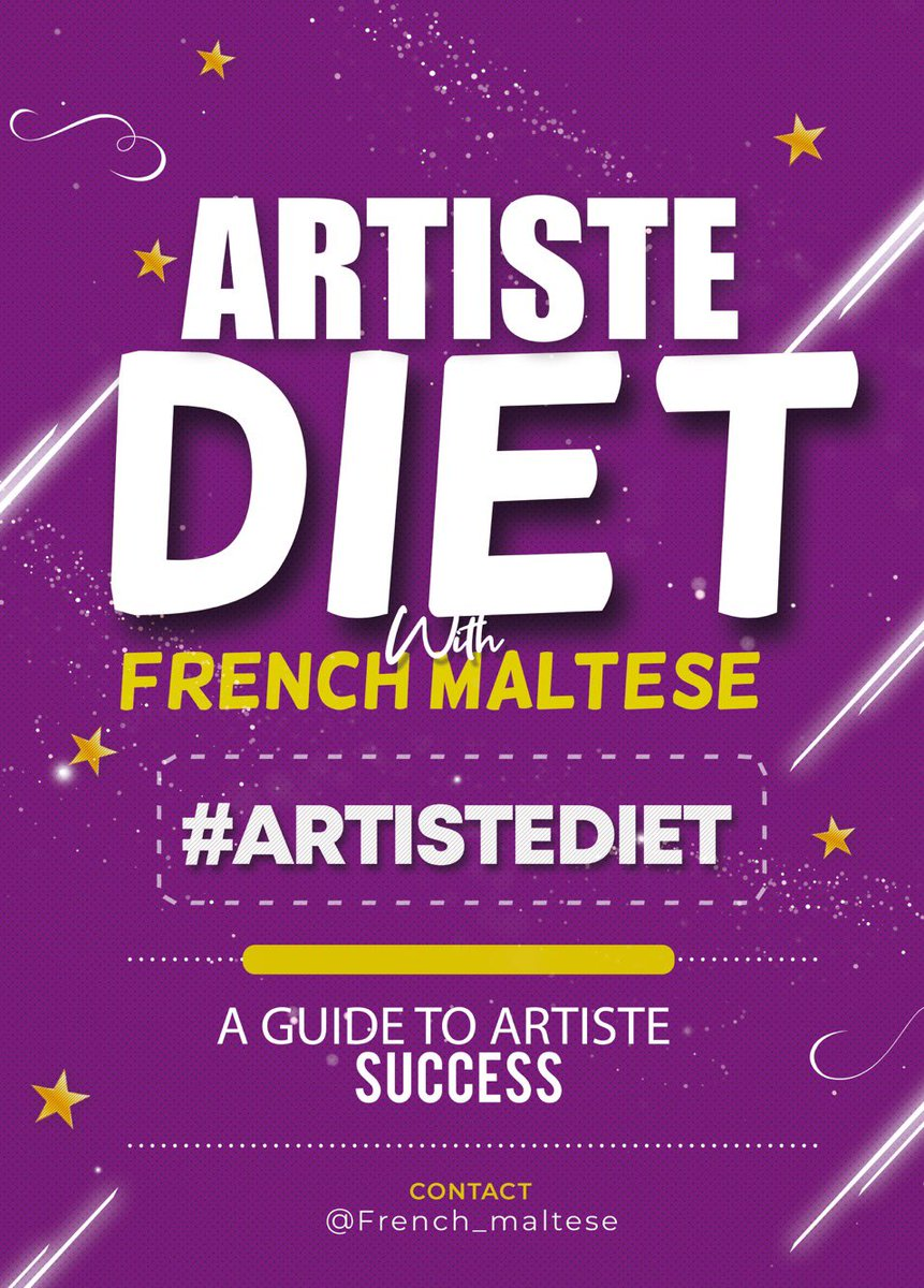 Dear Artistes,    Happy new week to you all & I pray that the music you make or the songs that you sing reaches the right ears. Today on artiste diet, we will be focusing on the various types of record deal but first of all, what does getting signed mean? #ArtisteDiet (THREAD)<br>http://pic.twitter.com/D4oNmnSHgH