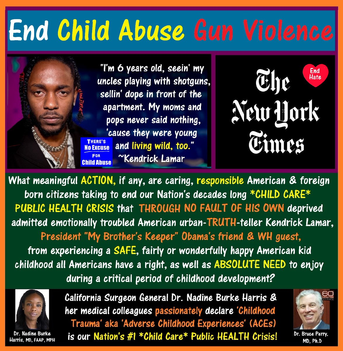 #nytimesendorsement  Hi. Would #TheNewYorkTimes increase circulation if w/ the intention of improving its neighbor's HEALTH & #QualityOfLife, #TheTimes asked all responsible, caring #AmericanCitizens to seriously consider the following #ChildCare health related issues >>>  Peace.
