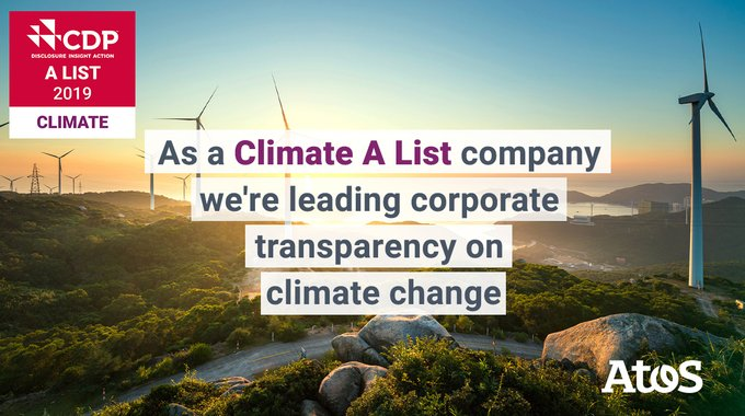 We are very proud to be included in @CDP's Climate A List - a distinction...