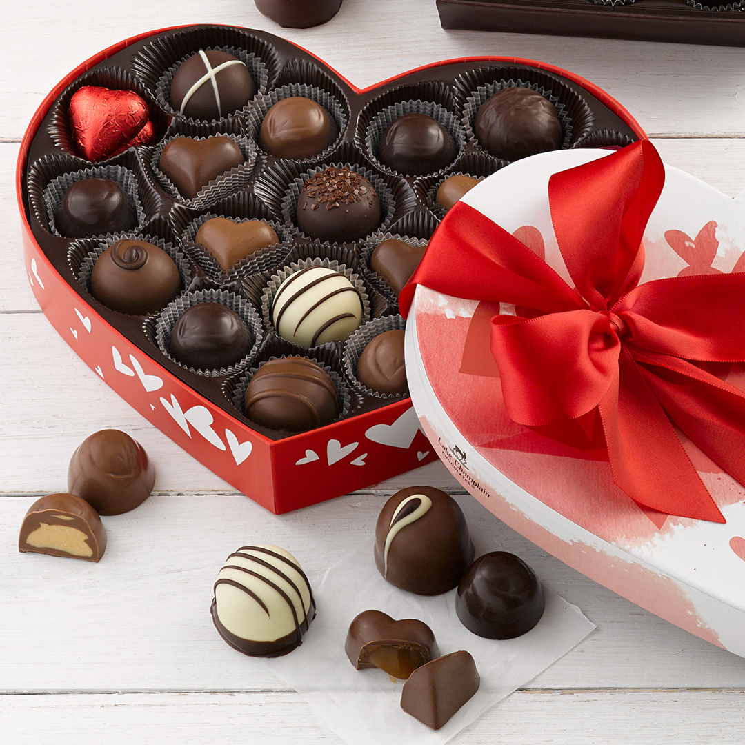 ❤️ Flash Sale! ❤️  Wow your loved one this Valentine's Day with a gift of extraordinary chocolates. Order today and SAVE on our most popular Grand Heart Assortment!  Shop online or in-stores!   #flashsale #ValentinesDay #giftideas #makeitextraordinary