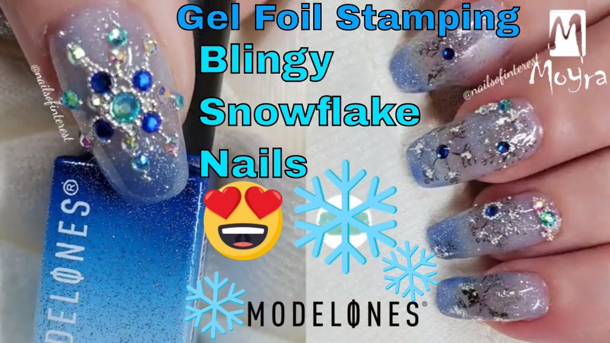 """New upload - """"Blingy Snowflake Nails With Moyra Foil Gel Stamping """"  Watch Now: https://youtu.be/DSXnrlpz1_M #snowflakenails #blingnails #gemnails #bling #nailart #nails #winternails #colorchangenailspic.twitter.com/1J7M36IhAh"""