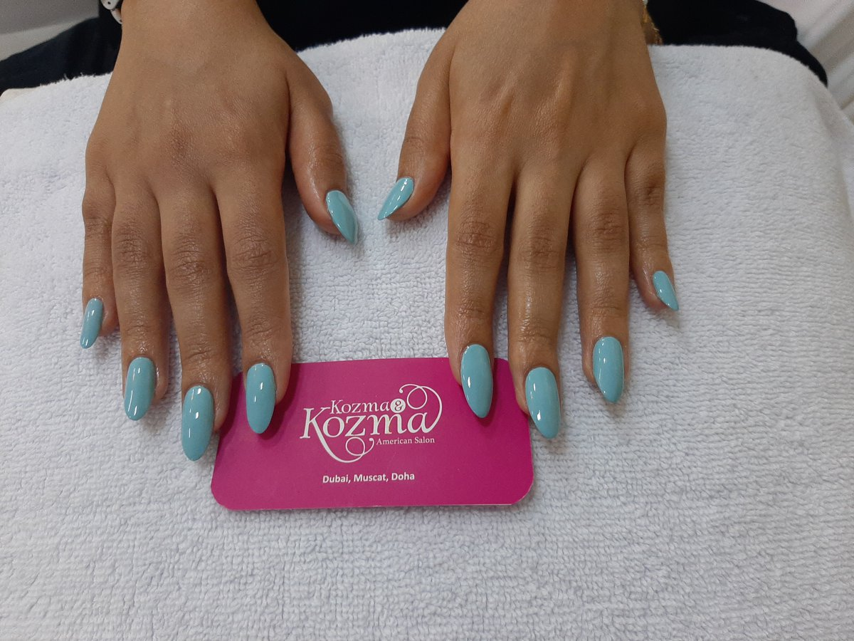 SOFT BLUE ACRYLIC NAILS! Beautifully bright and polished results for hands that won't go unnoticed. Book your nail service now with Kozma and Kozma.#dubaibeautysalon #dubaibeauty #dubaispa #dubaihair #Dubaisalon #dubaihairsalon #dubaifashionpic.twitter.com/PEAMnIkV9n