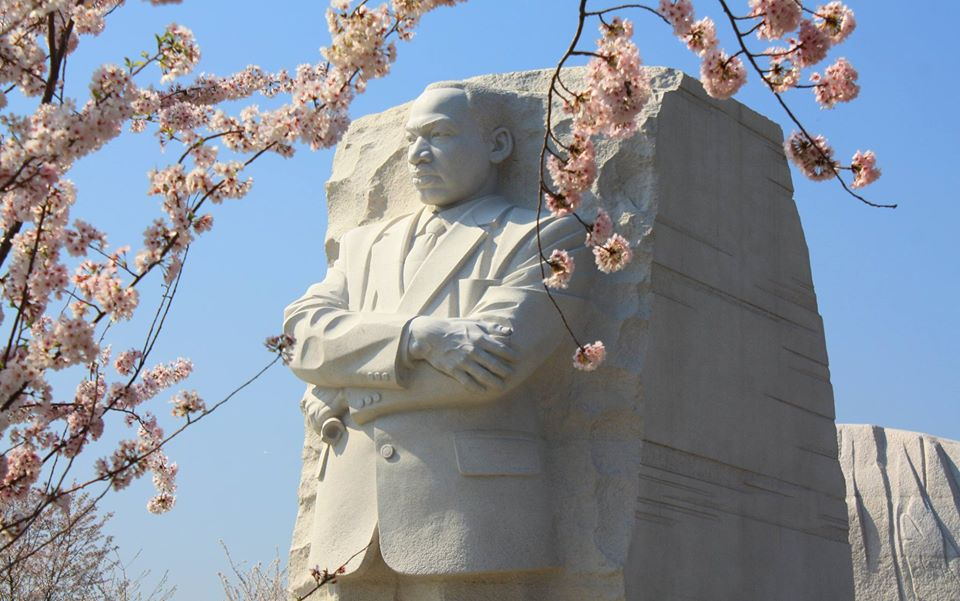 """""""Darkness cannot drive out darkness; only light can do that. Hate cannot drive out hate, only love can do that."""" - Dr. Martin Luther King, Jr.  Pic of the Martin Luther King, Jr. Memorial @NationalMallNPS #WashingtonDC #MLKDay"""