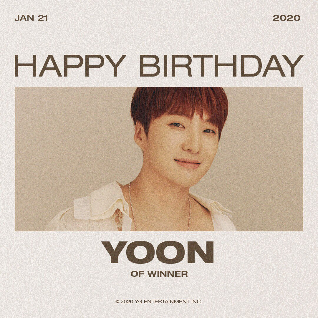 [YOON] HAPPY BIRTHDAY 🦊 ⠀ #WINNER #위너 #YOON #승윤#HAPPYBIRTHDAY #20200121 #YG https://t.co/qQxeG96yeB
