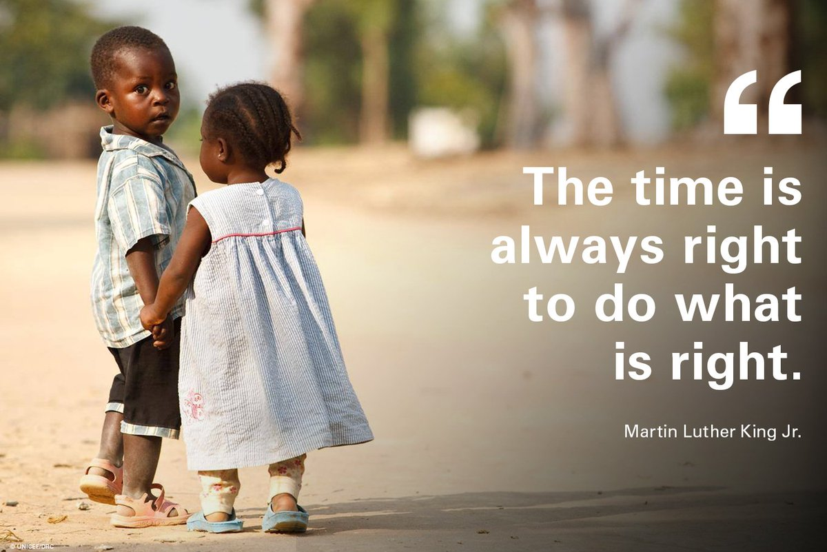 The time is now.   We couldn't agree more with these inspiring words from Martin Luther King Jr.  #ForEveryChild, a fair chance.   #MLKDay <br>http://pic.twitter.com/icw9MYnf6Z