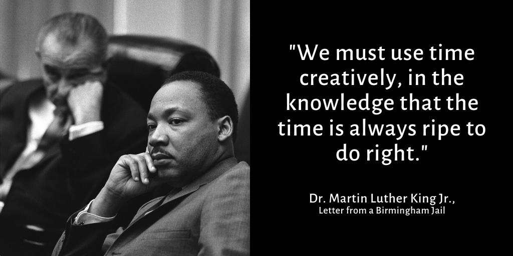 Today, more than 200,000 people in our community live in poverty. More troubling, our poverty numbers are growing. More than 25,000 people live in poverty this year that were not in poverty last year. Let us all heed Dr. King's words and help lift our neighbors out of poverty.