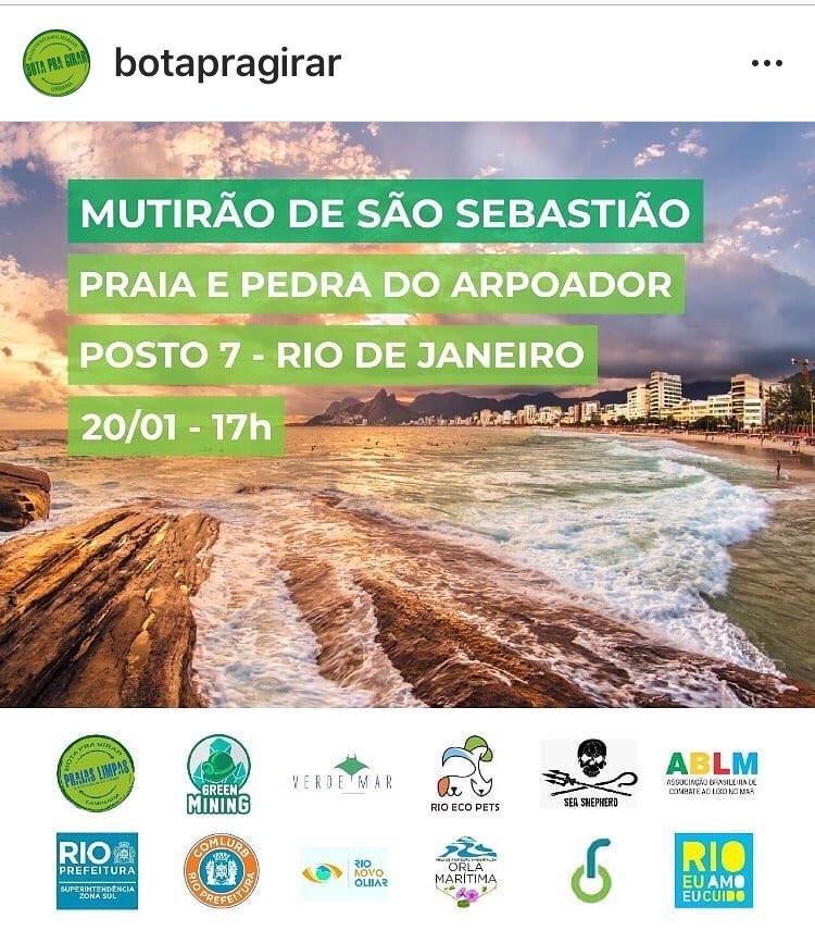 É hoje !! Vamos lá ajudar?? @Cubiaco @Rioeuamoeucuido @minc_rj @enymiranda @comlurbcomunica @mining_green @Prefeitura_Rio #RiodeJaneiro #Errejota #saosebastiaopic.twitter.com/aSz942udUp