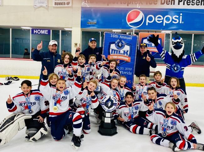 Congratulations to our Squirt CS team for being the MLK O-Town Showdown Champions! They came back to tie the game with 25 seconds left in the third period. Battled through a 10 min 4v4 OT and won in a thrilling shootout!  Go Stars! #hardworkpaysoff #teamwork #gostarspic.twitter.com/bRSbdMwNPB