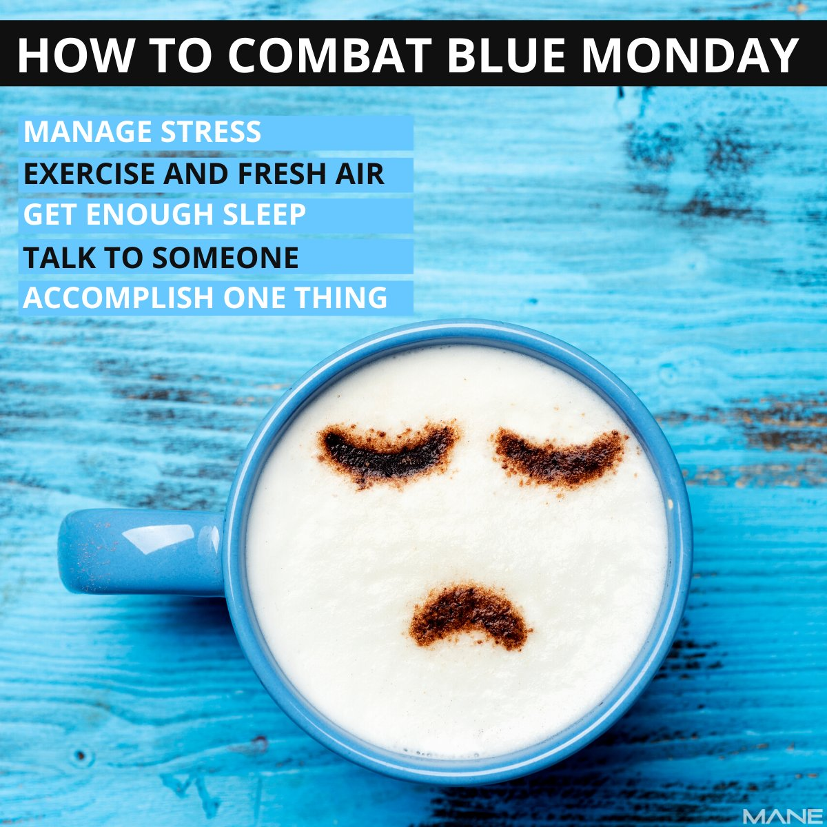 Blue Monday - created by a British holiday company.  Despite Blue Monday not being an official day, many do suffer from depression all year-round.  Here are 5 ways to combat Blue Monday.  #bluemonday #depressionawareness #listeningskills #helpingothers