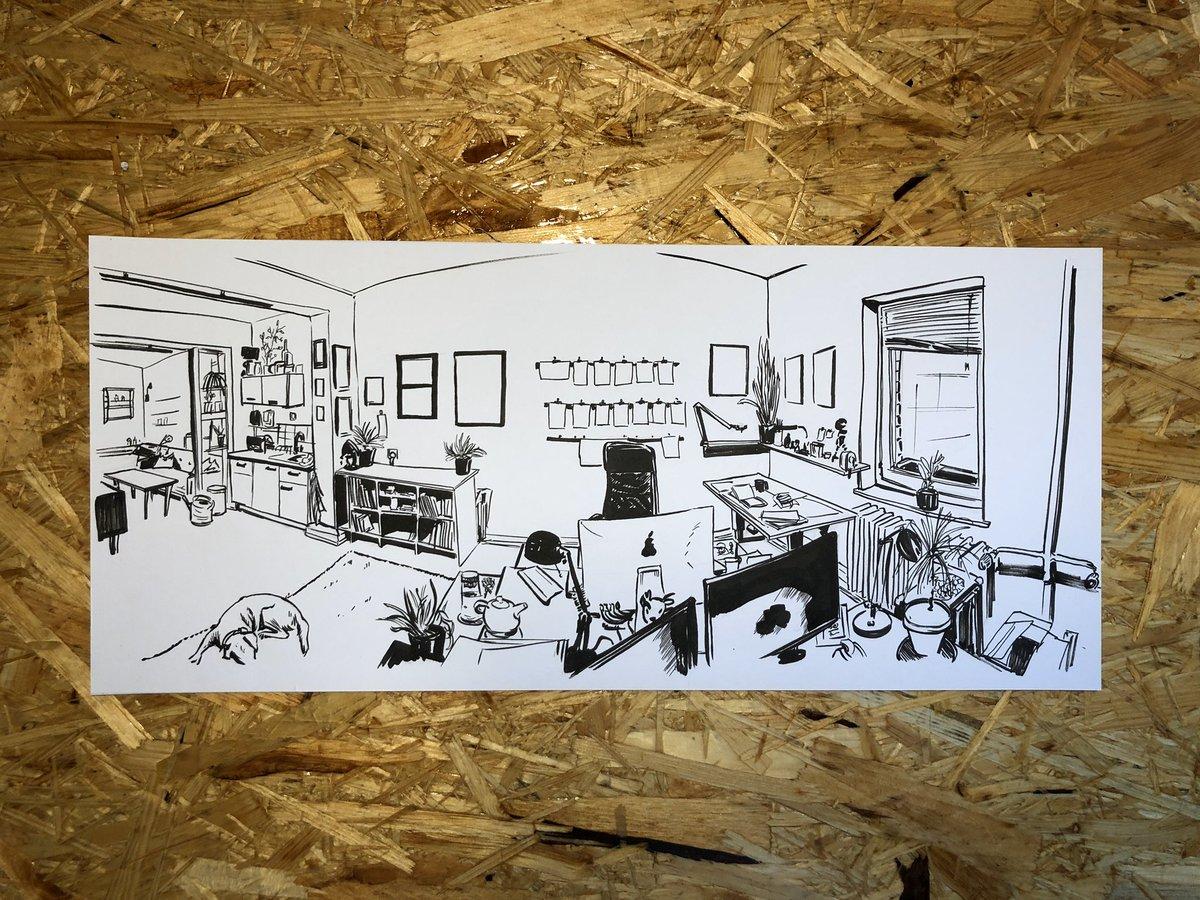 studio view. . #buntundkreativ #illustration_daily #studiophoto #atelier #illustrationartistpic.twitter.com/dRKHrAX79w