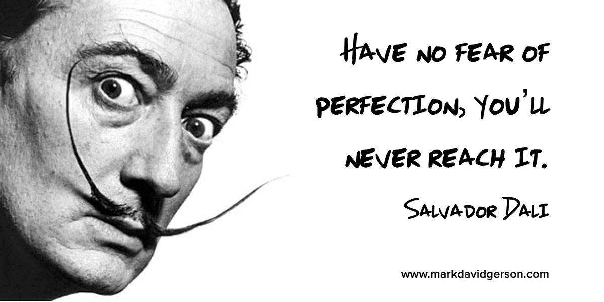 """Have no fear of perfection, you'll never reach it. "" - Dali writing tips perfection  #amwriting #writerslife<br>http://pic.twitter.com/3Y7Bsbichu"
