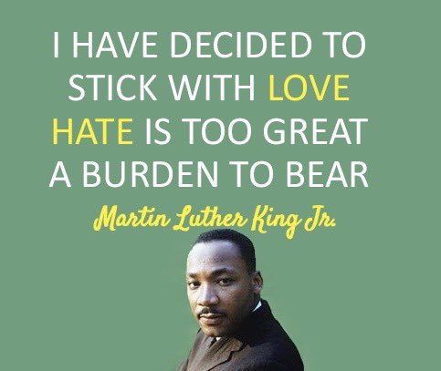 Happy MLK Day! Grateful for those who have stood up for others using their minds and hearts!