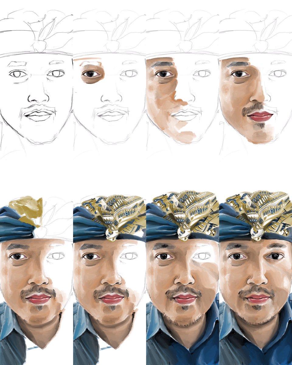 """Portrait4"" [Done] .Digital Pencil and Acrylic . . #portrait #art #mukundaspages #paint #painting #portraitdrawing #draw #sketch #facesketch #artwork #progres #artoftheday #arts_help #bali #artist #fantasy #inspiration #instapic #sketch #ipadpro #draw #painting #creator #painterpic.twitter.com/NuYC9XVxam"