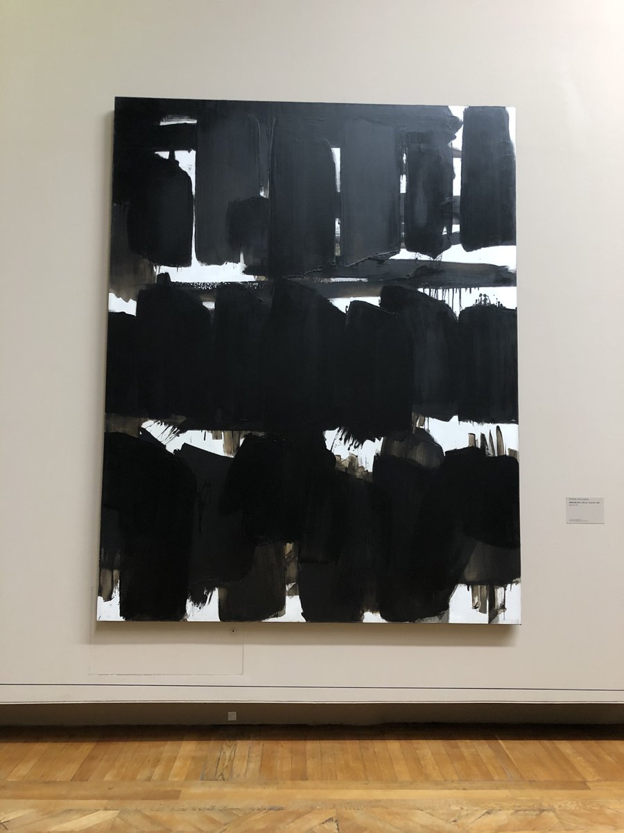 """In celebration of his 100th birthday, """"Soulages at the Louvre"""" showcases the extraordinary, non-figurative works of the French artist, highlighting his long and extensive career as the """"painter of black and light"""".   On view through March 9th 2020, @MuseeLouvre<br>http://pic.twitter.com/6fmTLh9Xw6"""