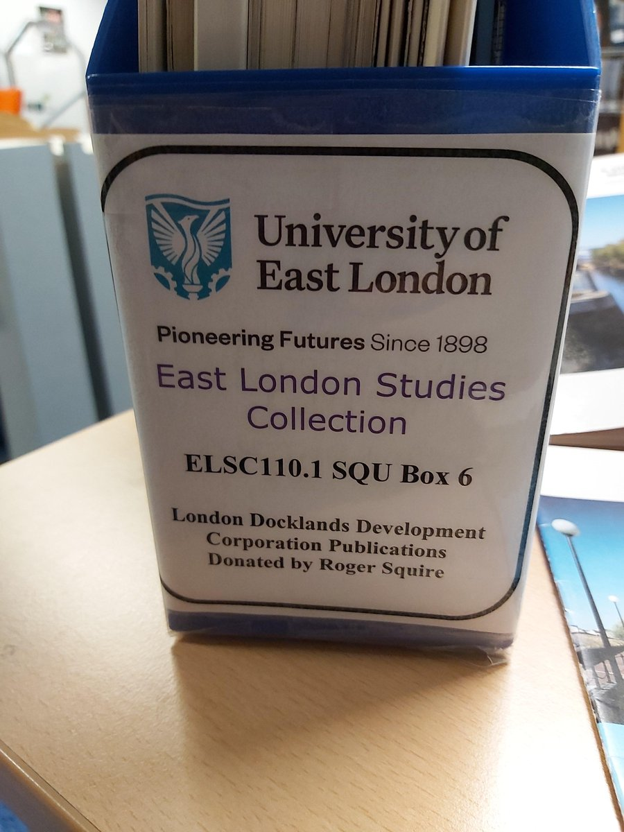 Monday morning and just getting ready to catalogue some more London Docklands Development Corporation reports for our East London Studies Collection here at  #UEL.  Some fascinating stories here on the regeneration of the Royal Docks area.