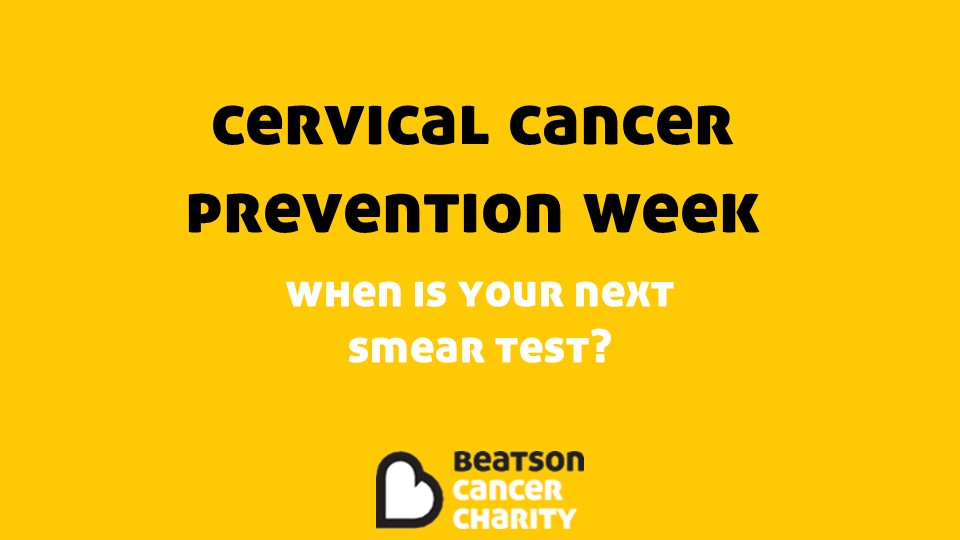 It's #CervicalCancerPreventionWeek. A week to spread awareness of cervical cancer and the importance of doing what we can to prevent it. Cervical screenings prevent 75% of cervical cancers from developing - let's help take the fear out of smears.