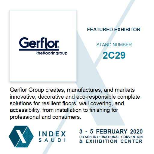 Presenting @eastgerflor as Featured Exhibitor for INDEX Saudi 2020.  Secure your FREE pass to INDEX Saudi today and meet Gerflor at the event: https://bit.ly/2pg1kWm.  #indexsaudi #indexksa #Exhibition #event #InteriorDesign #Interiors #interiordecoration #interiordecorpic.twitter.com/WRCU5L2k7f