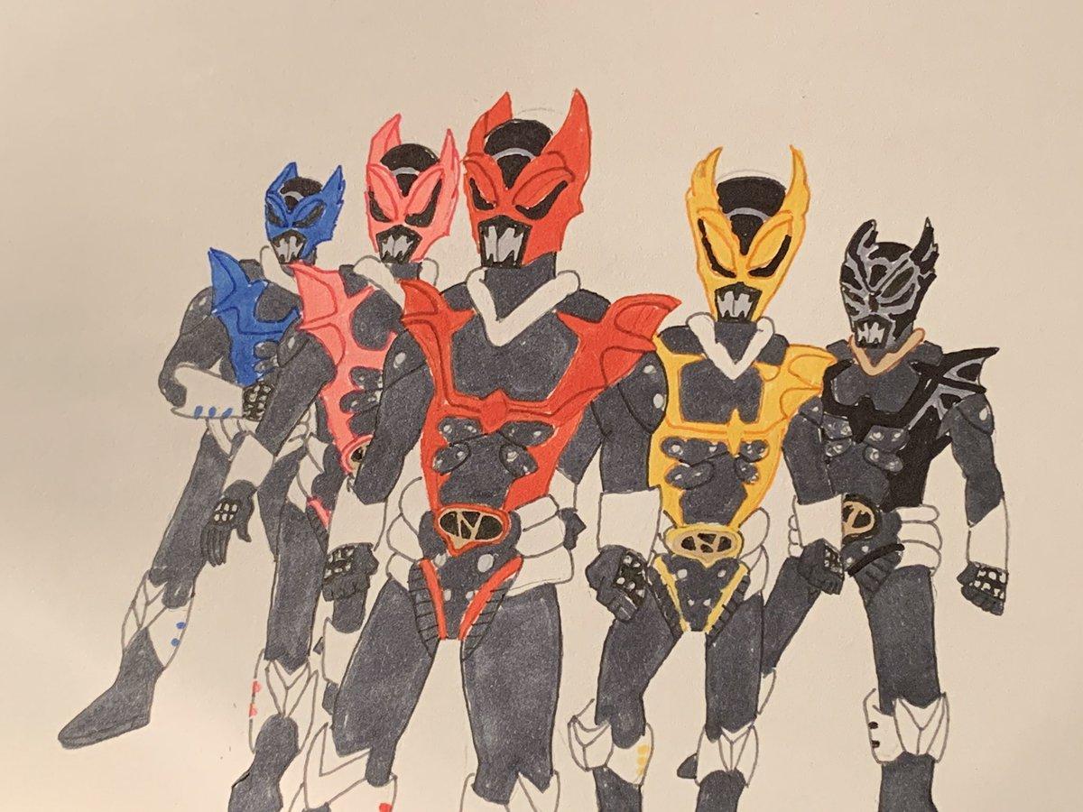 The return of the Psycho Rangers #illustrations #powerrangersinspace #psychorangers