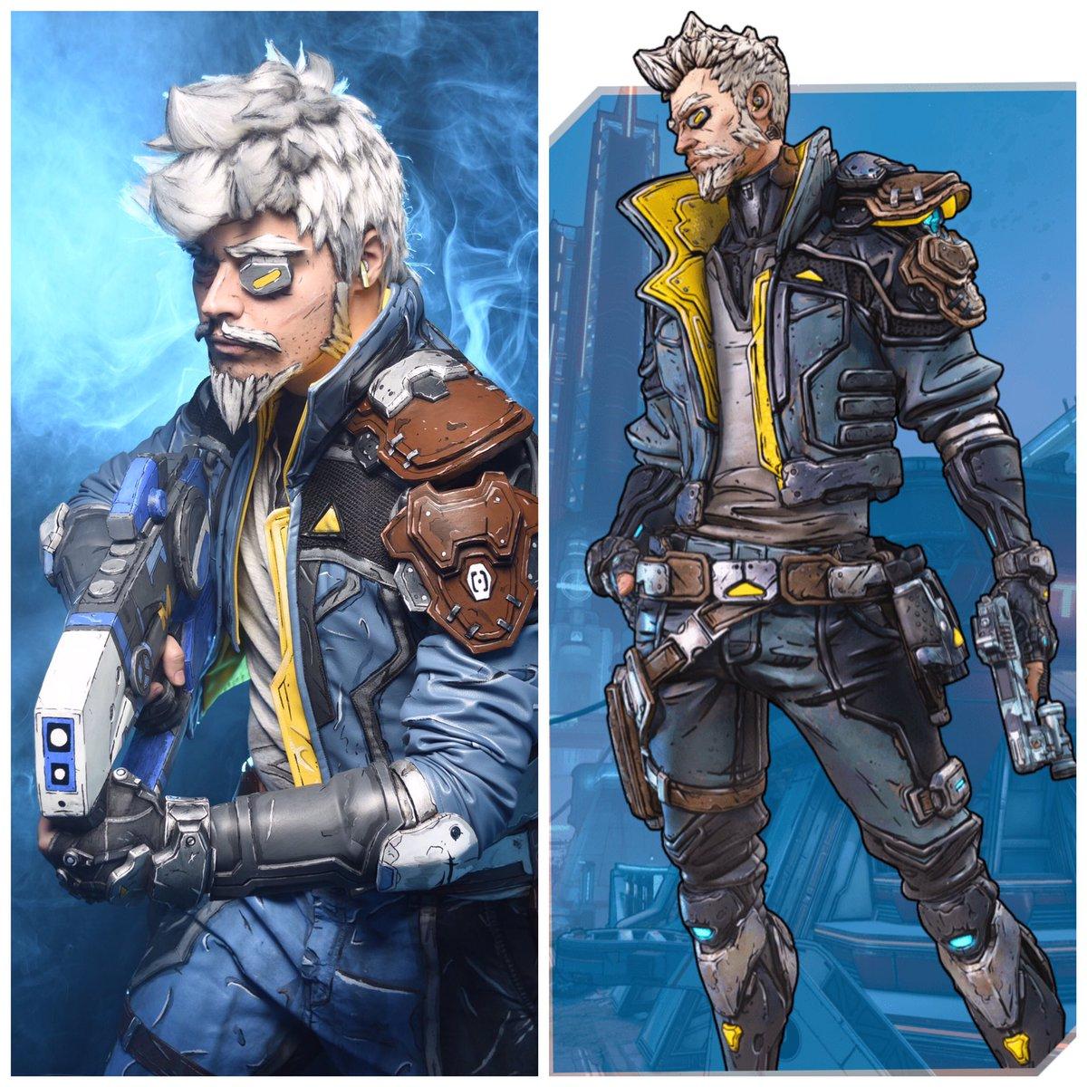 Cosplay vs character: Zane Flynt @Borderlands @GearboxOfficial @2K #Charactervscosplay #Borderlands #cosplaypic.twitter.com/w6bLBrlCpR