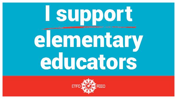Share and show solidarity! #ETFOstrike