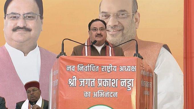 JP Nadda elected unopposed as national president of BJP