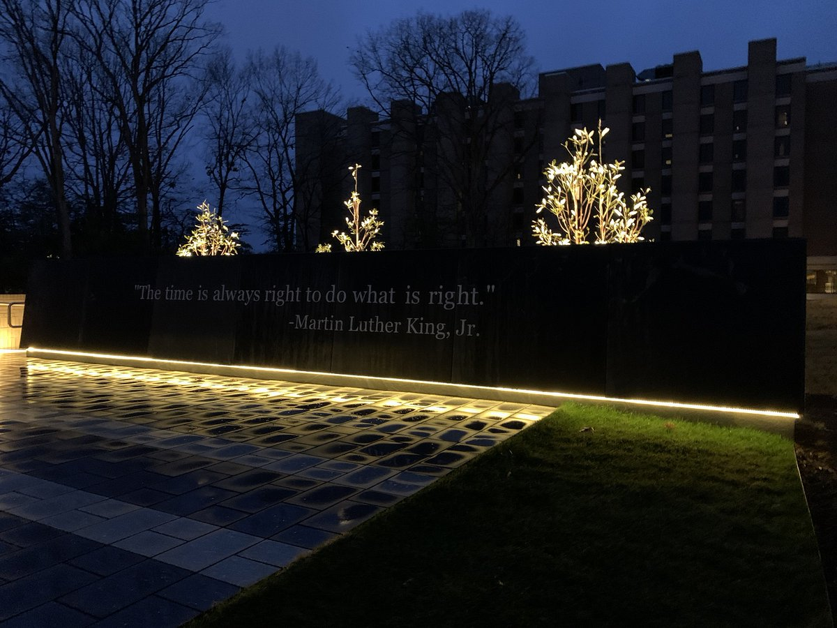 "Today, the FBI honors the life and work of the Reverend Dr. Martin Luther King, Jr. A quote from Dr. King is etched in stone at the FBI Academy's reflection garden in Quantico as a reminder to all students and FBI employees: ""The time is always right to do what is right."" #MLKDay <br>http://pic.twitter.com/UKMLAAZw5w"