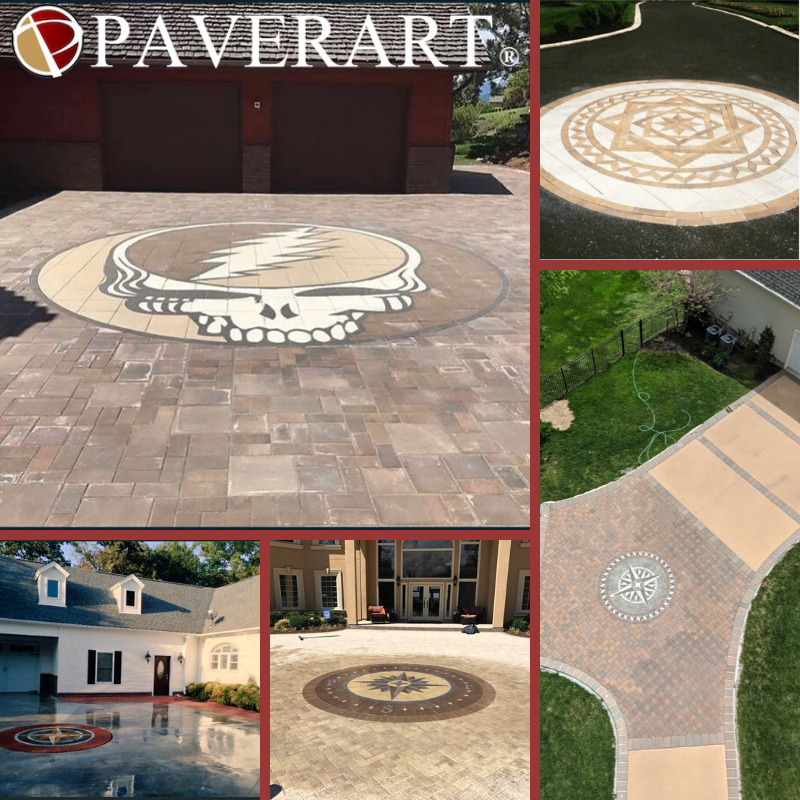 #PAVERART has been building #driveway envy for 16+ years.  From our best selling #compassrose collection to custom pieces like this #steely we are only limited to your imagination.   http://www.paverart.com #landscapedesign #outdoorliving #landscapearchitecture #curbappealpic.twitter.com/3B5JomP4Tk