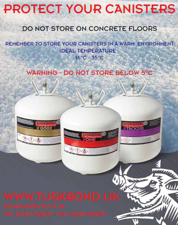 Protect your canisters on these cold winter days! #adhesive #tuskbond #winter #supportpic.twitter.com/8Tait7Ddyg